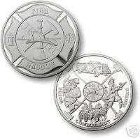 FIRE FIREFIGHTER MALTESE .999 SILVER CHALLENGE COIN