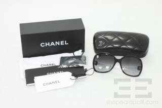 Chanel Black And White Large Round Frame Sunglasses 5174
