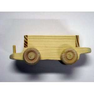 WOODEN TOY WAGON TRAIN CAR (SMALL) Everything Else