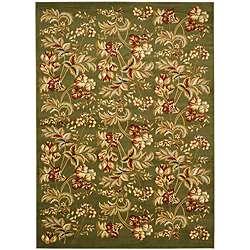 Lyndhurst Collection Floral Sage Rug (8 x 11)