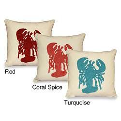 Louie Lobster Towel Stitch 18 inch Throw Pillow