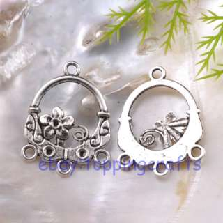 FREE SHIP 20pcs Tibetan Silver Flower Charm 30mm TP0280