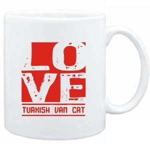 Mug White  LOVE Turkish Van  Cats