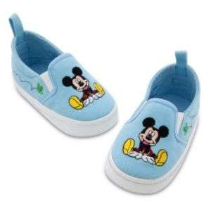Disney Slip on Mickey Mouse Shoes,Blue Sz.06 12 mo,NIP