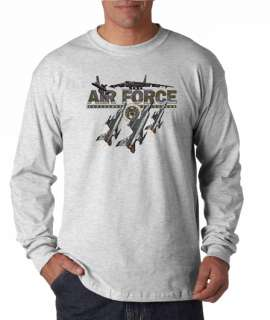 Air Force USA Military Airforce Long Sleeve Tee Shirt