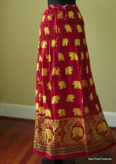 Elephant Print Hippie Boho Short Dress Long Skirt Gypsy Bohemian