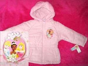 Disney Princess Girls Jacket Coat Pink Hood $55 size 3T