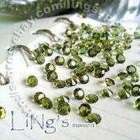 10000 1/3CT Sage Green Diamond Confetti Wedding Favor