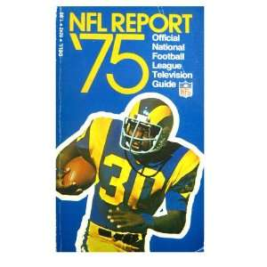 NFL Report 75 1975 Official National Football League