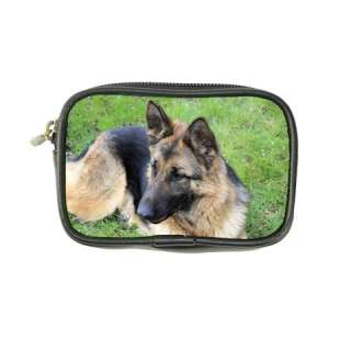 German Shepherd Dog Puppy Leather Coin Purse Wallet Bag