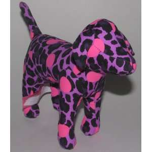 Victorias Secret Pink Dog Solid Plush Toy Purple with Pink