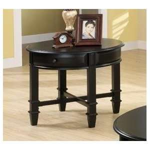 Austine End Table in Black Finish by Coaster Furniture