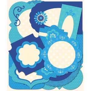 K&Company Contemporary Die Cut Labels Blue Arts, Crafts
