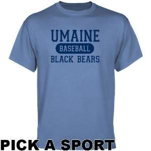 Maine Black Bears Light Blue Custom Sport T shirt