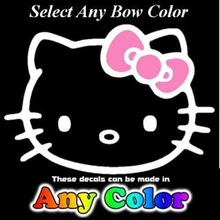 Hello Kitty ANY Color BOW 10 inch Decals Window Sticker
