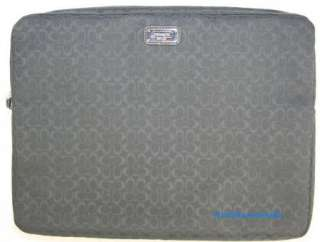 COACH SIGNATURE Black Laptop Computer Sleeve F70292 NWT
