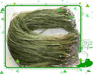 100pcs Forest Green Organza Voile Ribbon Necklace Cords