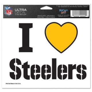 Pittsburgh Steelers I Love Steelers 5x6 Cling Decal