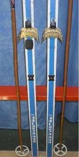 Cross Country 79 Skis 3 pin 205 cm +Poles HARJU