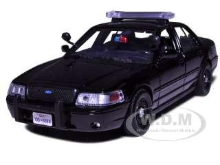 2007 FORD CROWN VICTORIA POLICE CAR BLACK 124