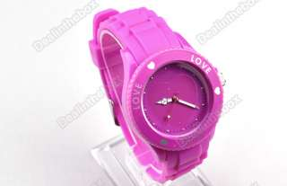 Cute Fashion Girls Silicone Quartz Heart Love Jelly Watch 5 Colors