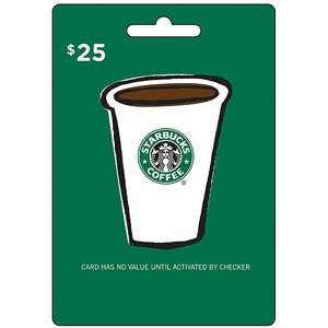 Starbucks $25 Gift Card Gift Cards