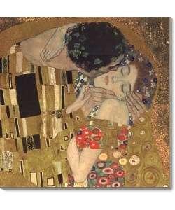Gustav Klimt The Kiss (detail), 1907 Canvas Art