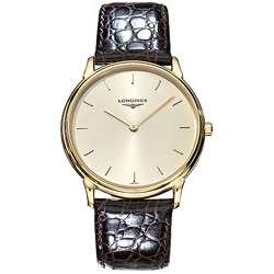 Longines Classic Mens Goldtone Quartz Strap Watch