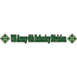 United States Army 4th Infantry Division Window Strip Decal Sticker 20