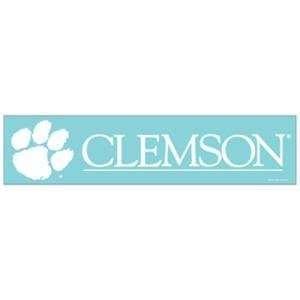 Clemson 4 x 16 Die Cut Decal