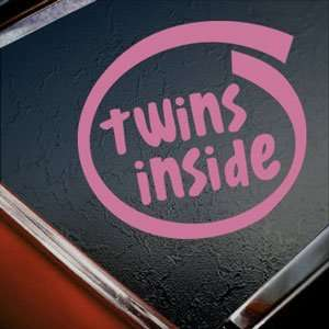 Twins Inside Pink Decal Car Truck Bumper Window Pink