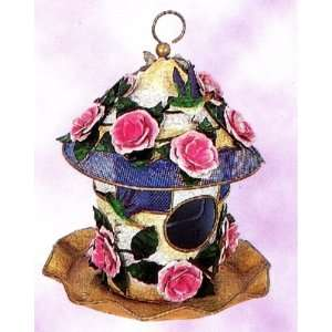 Hummingbird with Roses Outdoor Hanging Combination Birdhouse & Bird