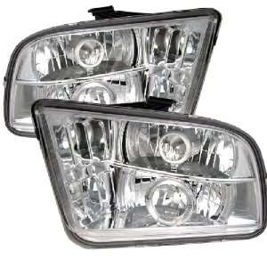 Ford Mustang 05 09 Halo Projector Headlights Chrome w/ FREE SUPER