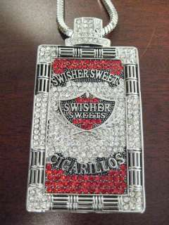SWISHER SWEETS PENDANT NECKLACE PIECE SILVER LARGE 36