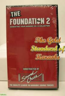 SOUND CHOICE FOUNDATION 2 KARAOKE CDG DISC SET NEW LOT