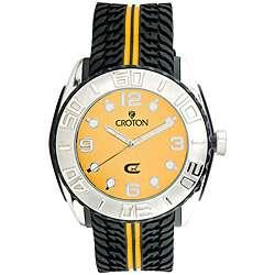 Croton Mens CX Series Yellow Dial Quartz Watch