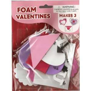 Valentine Foam Valentines Craft Kit (set of 3) Toys