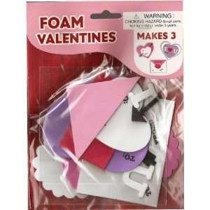 Valentine Foam Valentines Craft Kit (set of 3) Toys