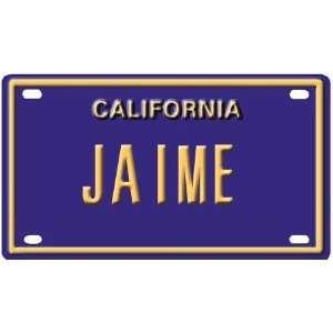 Jaime Mini Personalized California License Plate