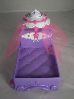 Hasbro My Little Pony Purple Bed Pink White Canopy Crystal Princess