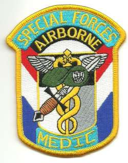US Army Special Forces Airborne Medic Military Patch