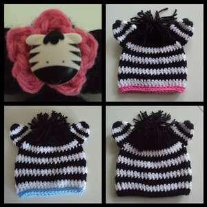 Baby Toddler Childrens Adult ZEBRA Photo Hat, Booties U Choose