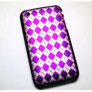 New Purple Diamond Laser Cut Rear Only Apple Iphone 3g 3gs