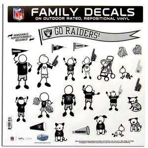 Oakland Raiders Auto Car Truck Window Vinyl Family Decals NEW NFL