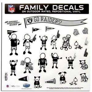 Oakland Raiders Auto Car Truck Window Vinyl Family Decals NEW NFL
