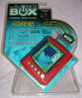 NEW Red Juice Box Media Player; MP 3 & JPEG W/ 1 Chip