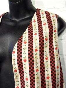 Homemade Cotton Reversible Christmas/Apple Themed Vest