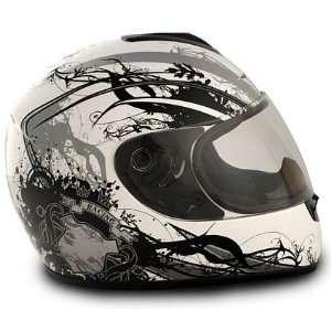 Vcan 136 Full Face Cat Silver Full Face DOT Approved Motorcycle Helmet
