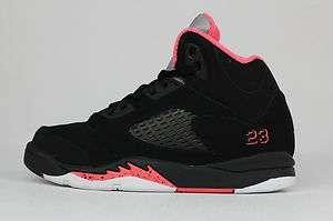 Nike Jordan 5 Retro Black Pink White PS Kid Sneakers