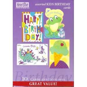 10 Assorted Kids Birthday Cards Pack Toys & Games